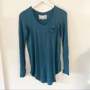 Anthropologie Pure & Good Long Sleeve Teal Tunic